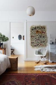rug on wall